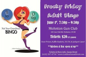 Freaky Friday ADULT Bingo with Goddess Susan @ Mohnton Fish and Game   Mohnton   Pennsylvania   United States